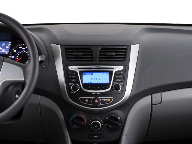 2012 Hyundai Accent Prices and Values Sedan 4D GLS center dashboard