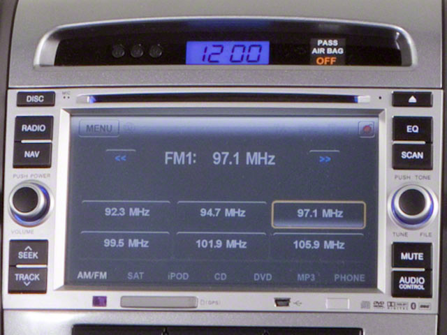 2012 Hyundai Santa Fe Prices and Values Utility 4D GLS 4WD stereo system