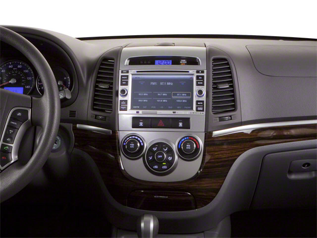 2012 Hyundai Santa Fe Prices and Values Utility 4D GLS 4WD center dashboard