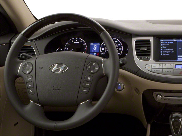 2012 Hyundai Genesis Prices and Values Sedan 4D driver's dashboard