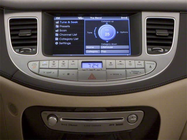 2012 Hyundai Genesis Prices and Values Sedan 4D stereo system
