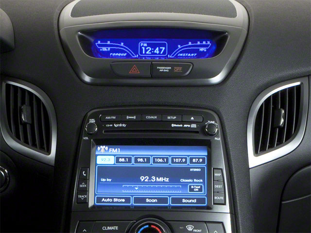 2012 Hyundai Genesis Coupe Prices and Values Coupe 2D R-Spec stereo system