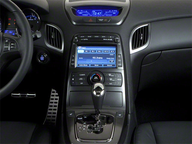 2012 Hyundai Genesis Coupe Prices and Values Coupe 2D R-Spec center console