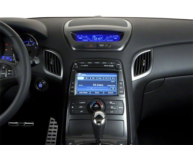 2012 Hyundai Genesis Coupe Prices and Values Coupe 2D R-Spec center dashboard