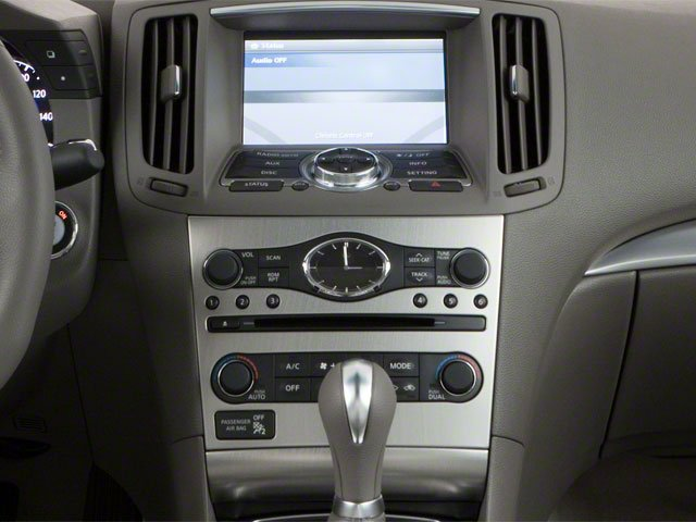 2012 INFINITI G37 Coupe Prices and Values Coupe 2D IPL center console