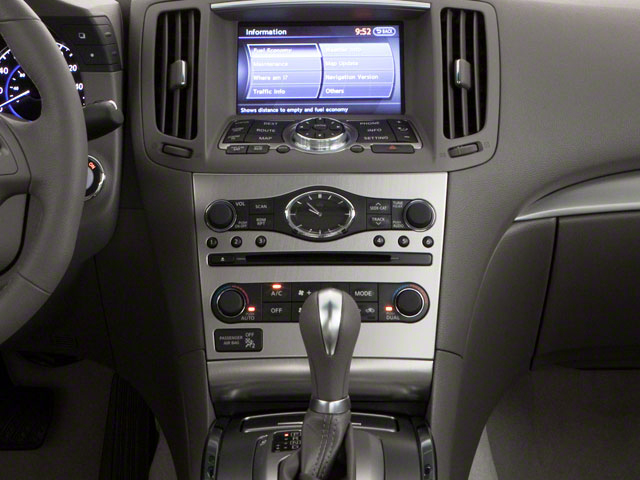 2012 INFINITI G25 Sedan Prices and Values Sedan 4D center console