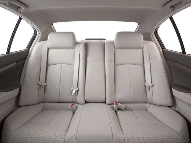 2012 INFINITI G25 Sedan Prices and Values Sedan 4D backseat interior