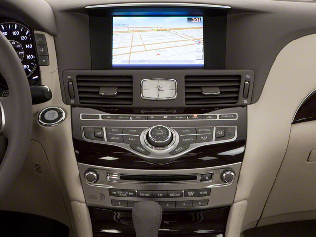 2012 INFINITI M37 Prices and Values Sedan 4D center console