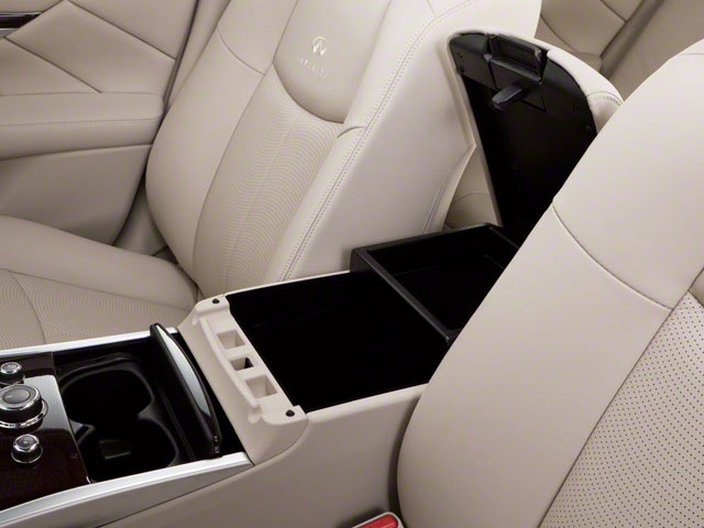 2012 INFINITI M37 Prices and Values Sedan 4D center storage console