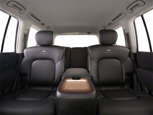 2012 INFINITI QX56 Prices and Values Utility 4D 4WD backseat interior