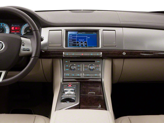 2012 Jaguar XF Prices and Values Sedan 4D XFR Supercharged center dashboard