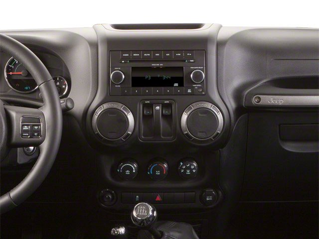 2012 Jeep Wrangler Prices and Values Utility 2D Rubicon 4WD center dashboard