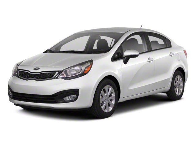 2012 Kia Rio Pictures Rio Sedan 4D LX photos side front view