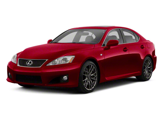 2012 Lexus IS F Prices and Values Sedan 4D IS-F side front view