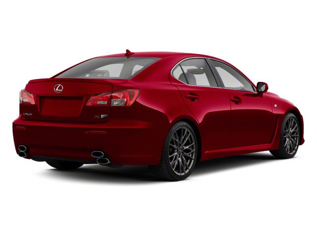 2012 Lexus IS F Prices and Values Sedan 4D IS-F side rear view