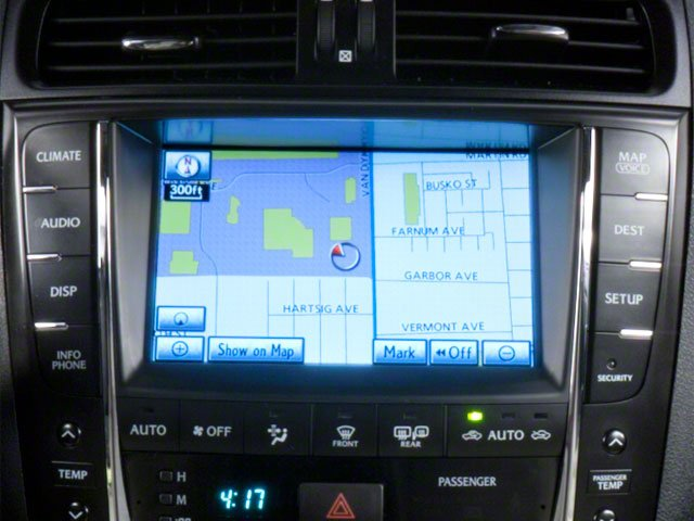 2012 Lexus IS F Prices and Values Sedan 4D IS-F navigation system