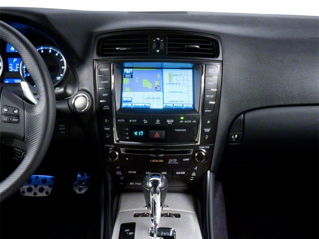 2012 Lexus IS F Prices and Values Sedan 4D IS-F center dashboard
