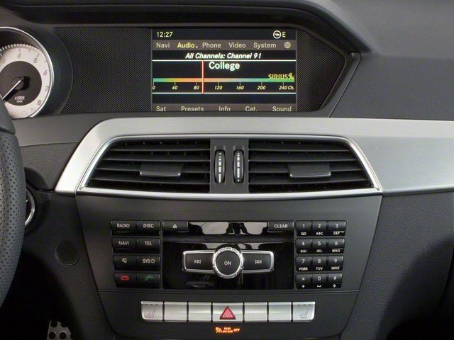 2012 Mercedes-Benz C-Class Prices and Values Coupe 2D C63 AMG stereo system
