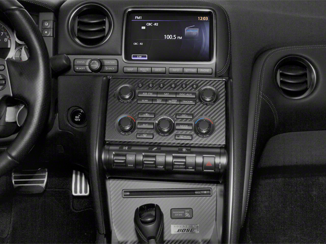 2012 Nissan GT-R Prices and Values Coupe 2D Premium AWD center console