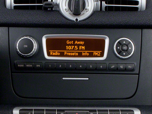 2012 smart fortwo Prices and Values Coupe 2D Pure stereo system
