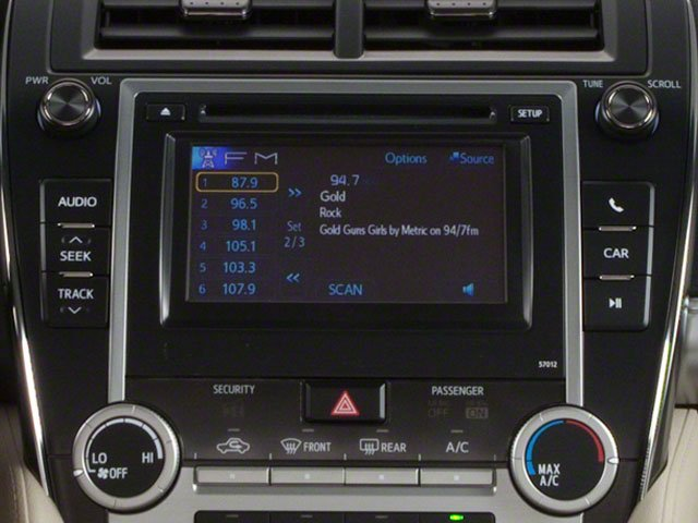 2012 Toyota Camry Prices and Values Sedan 4D SE stereo system