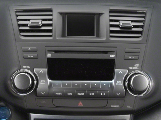 2012 Toyota Highlander Hybrid Prices and Values Utility 4D Hybrid Limited 4WD stereo system