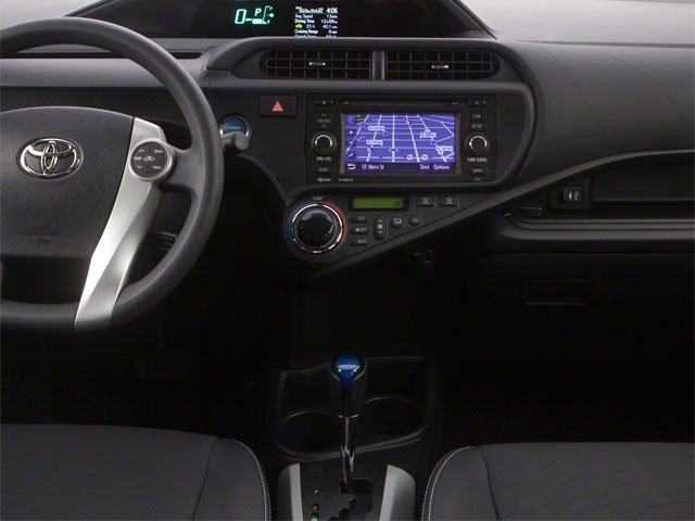 2012 Toyota Prius c Prices and Values Liftback 5D c Two I4 Hybrid center console