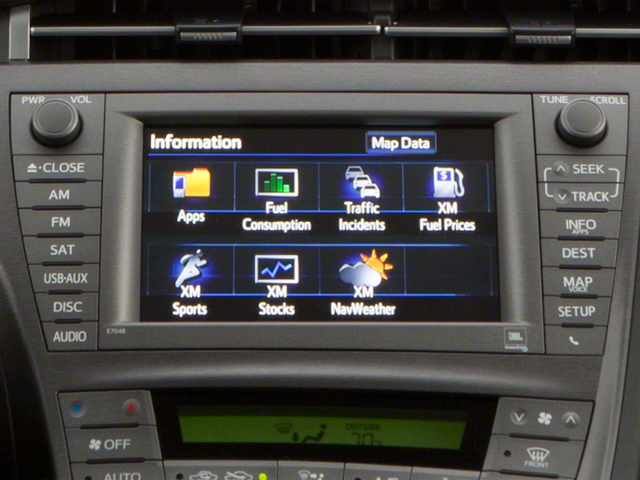 2012 Toyota Prius Plug-In Prices and Values Liftback 5D Plug-In Advanced Hybrid stereo system