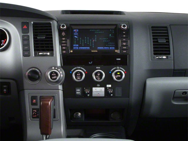 2012 Toyota Sequoia Prices and Values Utility 4D Limited 2WD center console