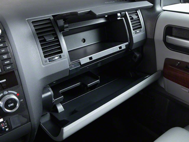 2012 Toyota Sequoia Prices and Values Utility 4D Limited 2WD glove box