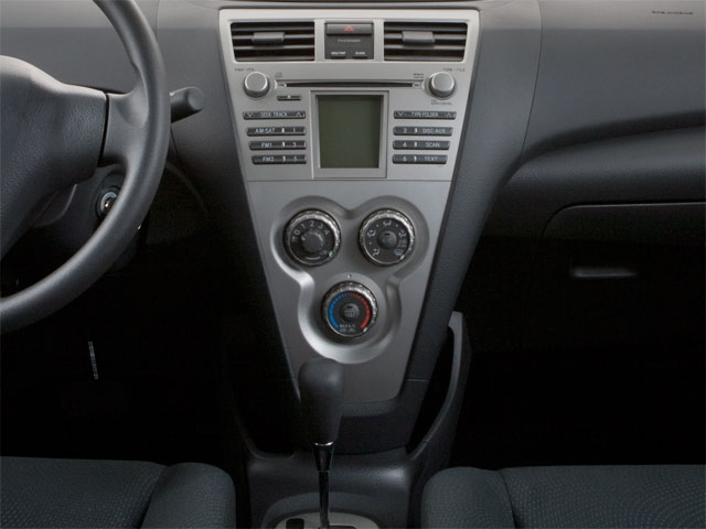 2012 Toyota Yaris Prices and Values Sedan 4D center console