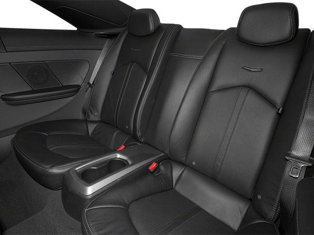 2013 Cadillac CTS Coupe Prices and Values Coupe 2D Premium AWD backseat interior