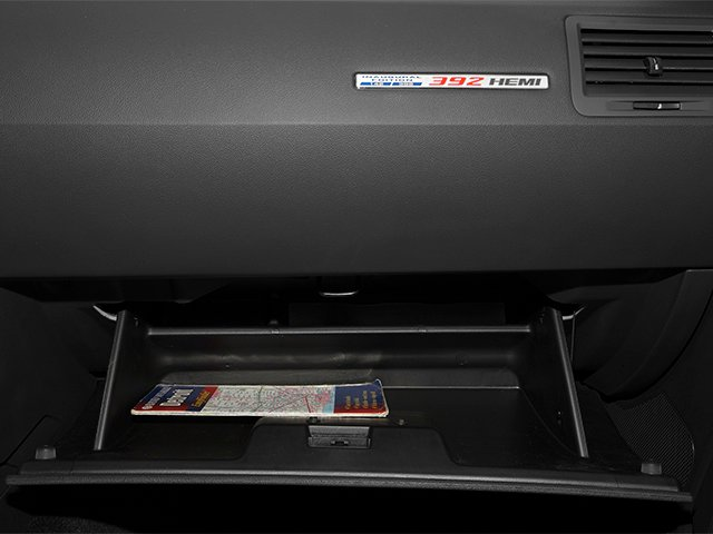 2013 Dodge Challenger Prices and Values Coupe 2D SRT-8 V8 glove box