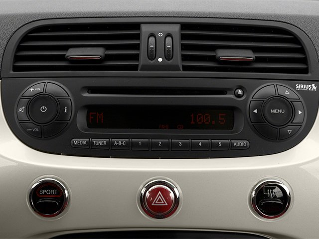 2013 FIAT 500 Prices and Values Convertible 2D Pop I4 stereo system