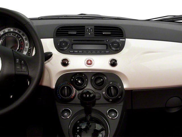 2013 FIAT 500 Prices and Values Convertible 2D Pop I4 center dashboard
