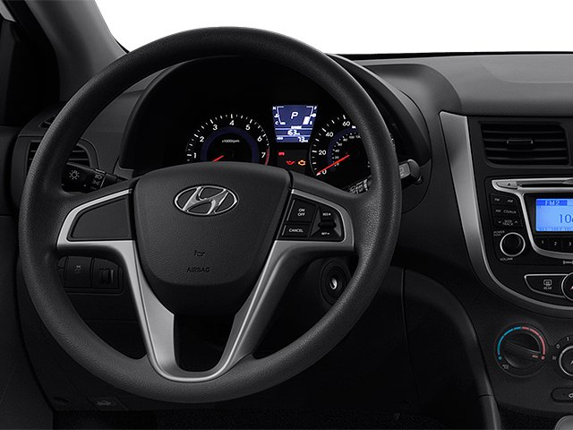 2013 Hyundai Accent Prices and Values Hatchback 5D SE driver's dashboard