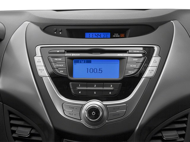 2013 Hyundai Elantra Coupe Prices and Values Coupe 2D GS stereo system