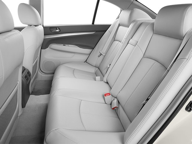 2013 INFINITI G37 Sedan Prices and Values Sedan 4D V6 backseat interior