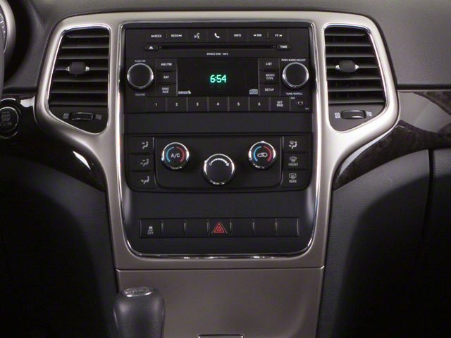 2013 Jeep Grand Cherokee Prices and Values Utility 4D Overland 4WD center console