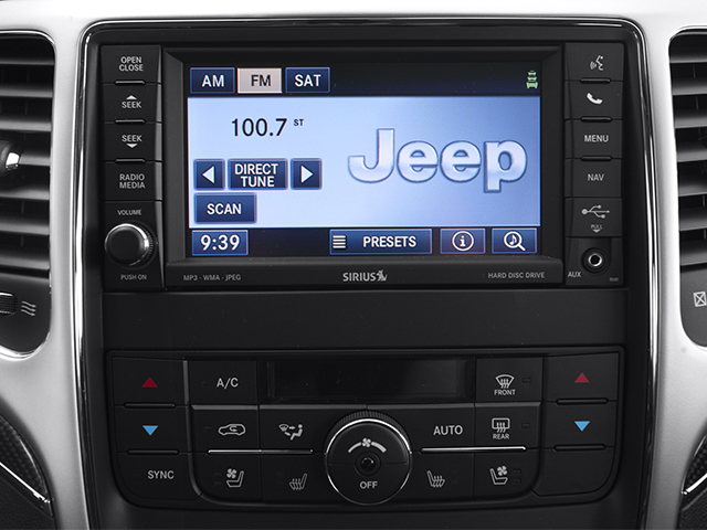 2013 Jeep Grand Cherokee Prices and Values Utility 4D SRT-8 4WD stereo system