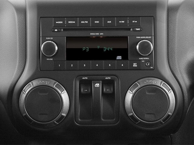 2013 Jeep Wrangler Prices and Values Utility 2D Rubicon 4WD stereo system