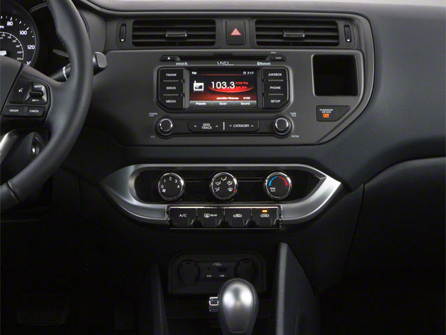 2013 Kia Rio Prices and Values Sedan 4D SX center console