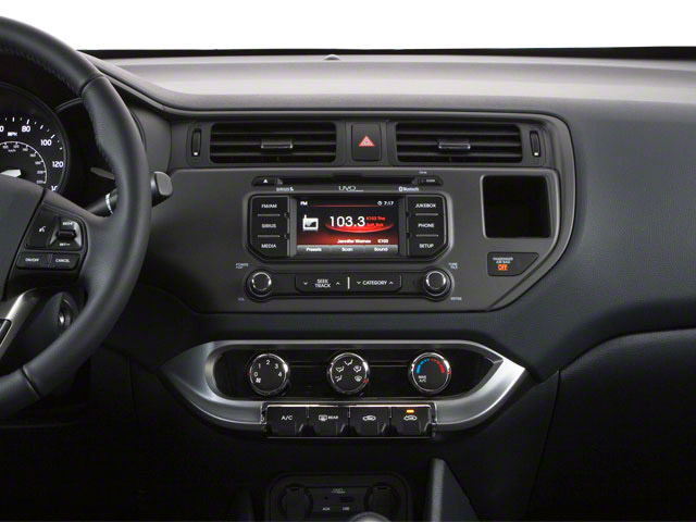 2013 Kia Rio Prices and Values Sedan 4D SX center dashboard