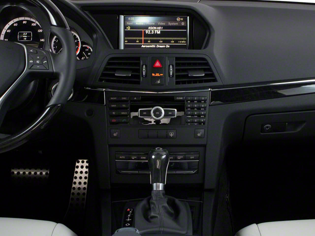 2013 Mercedes-Benz E-Class Prices and Values Coupe 2D E350 center console