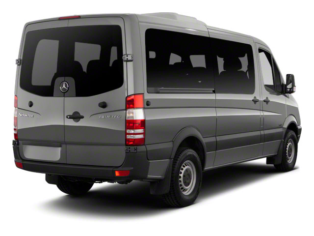 2013 Mercedes-Benz Sprinter Passenger Vans Prices and Values Extended Passenger Van High Roof side rear view
