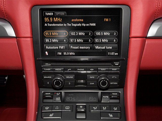 2013 Porsche Boxster Prices and Values Roadster 2D S stereo system