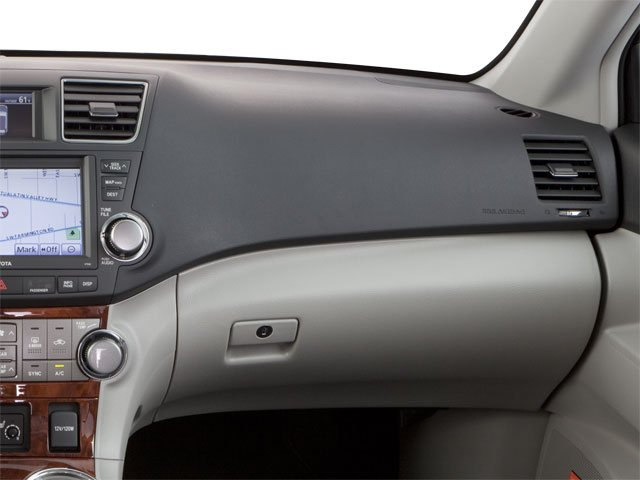 2013 Toyota Highlander Prices and Values Utility 4D Plus 2WD V6 passenger's dashboard