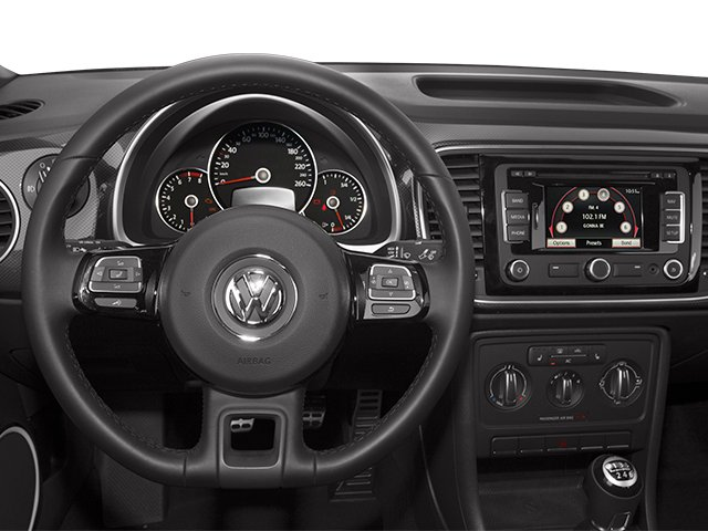 2013 Volkswagen Beetle Coupe Prices and Values Coupe 2D 2.0T R-Line I4 Turbo driver's dashboard