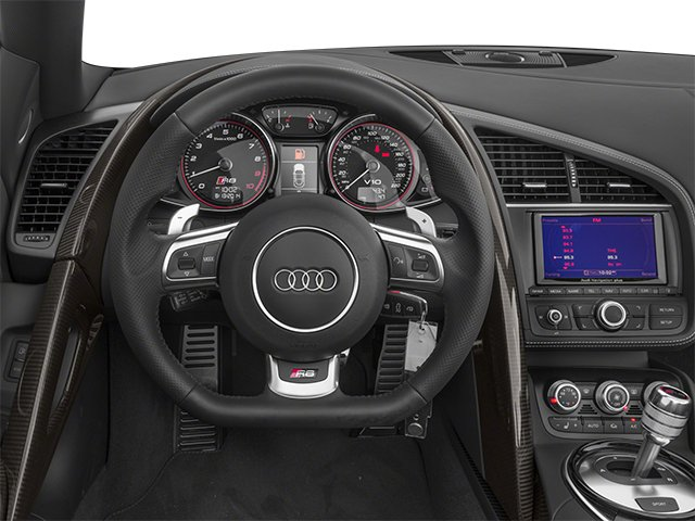 2014 Audi R8 Pictures R8 2 Door Convertible Quattro Spyder V10 (Manual) photos driver's dashboard