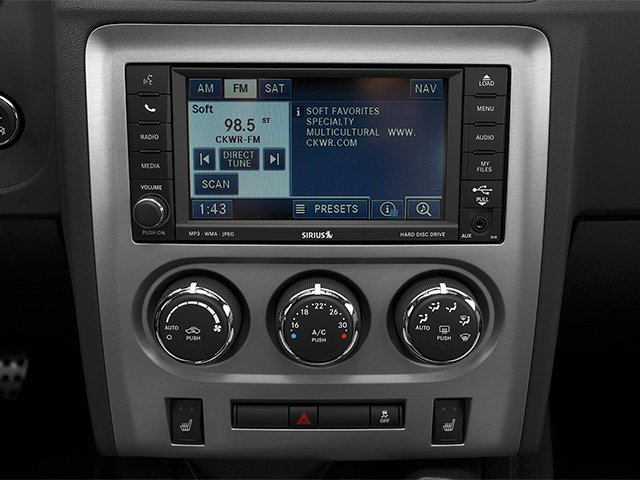 2014 Dodge Challenger Pictures Challenger Coupe 2D SRT-8 V8 photos stereo system